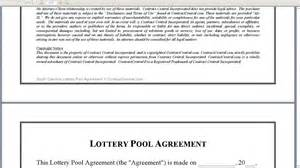 Lottery Agreement Template south carolina lottery pool agreement youtube