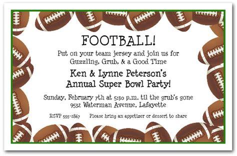 football invitation templates free printable football