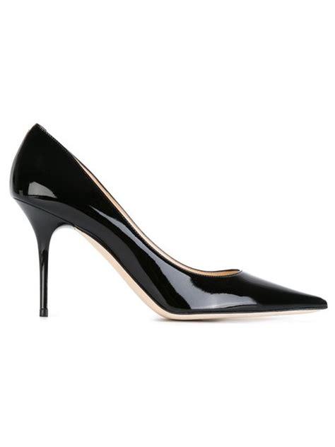 Sandal Abel Black Sandals Slip On Loafer Sandals Pria jimmy choo abel patent pointy toe pumps