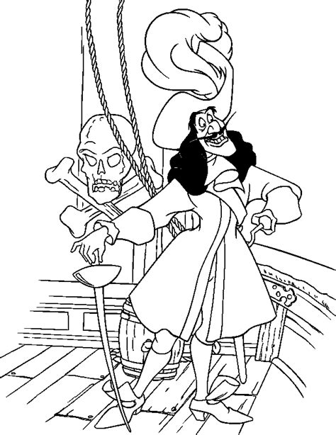 Captain Hook Coloring Page Coloring Home Captain Hook Coloring Pages