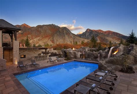 paradise home design utah mountain paradise pool modern landscape salt lake