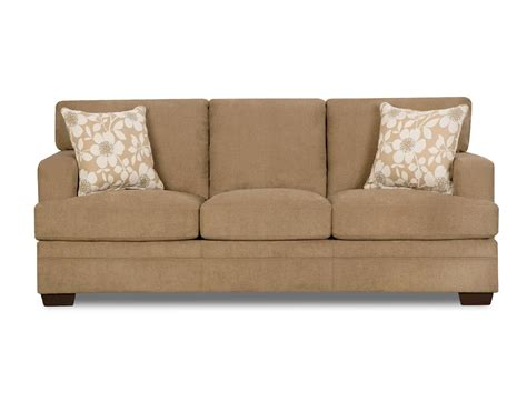 Simmons Chicklet Sofa Truffle Tan