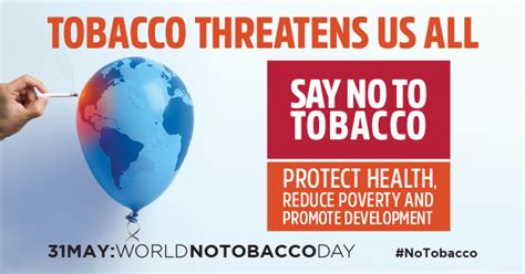 No Tobacco Day Essay by World No Tobacco Day Tobacco Threatens Us All Un Dk