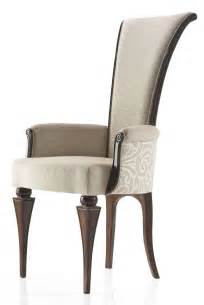 High back low arm italian contemporary style carver dining chair