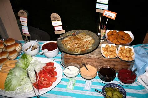 burger bar topping ideas a backyard burger bar with plenty of toppings great