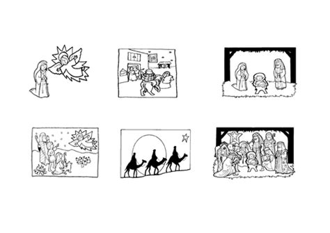 tes new year story resources nativity pictures and sequence sheet by joanna 1980
