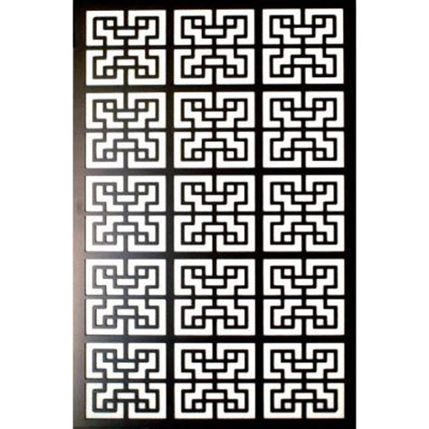 acurio latticeworks 1 4 in x 32 in x 4 ft black