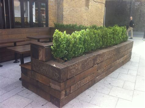 Sleeper Planters by Exterior Seating And Planting Idea International Visual