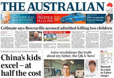 Australia Original 1 Tx Tshirtkaosraglananak Oceanseven abcs the australian slides below 100 000 copies for the time mumbrella