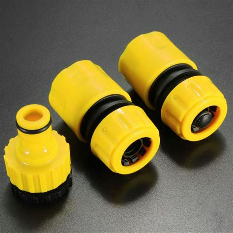 Set 3pcs Dig Yellow garden accessories hose pipe fitting set 3pcs set yellow water connector adapter garden