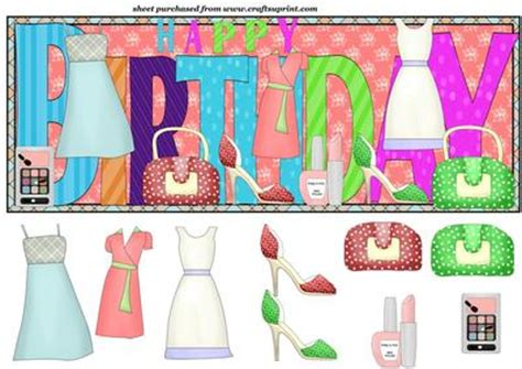 happy birthday fashion design happy birthday fashion topper cup172967 539 craftsuprint