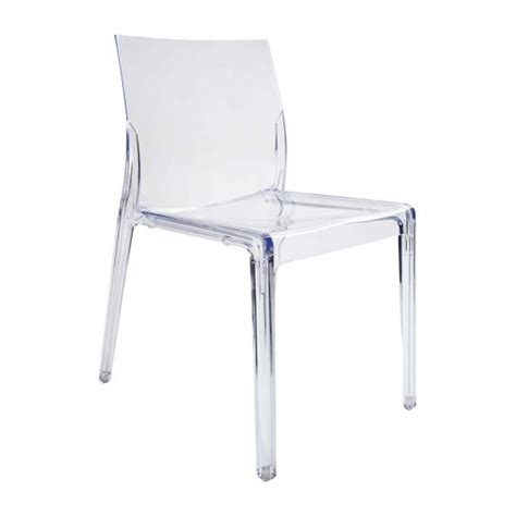 mamamia ii chaise transparente en plastique habitat