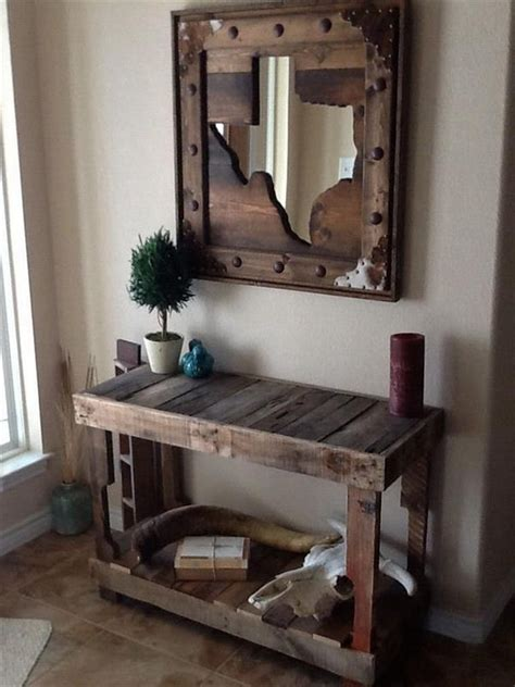 pallet entry table surprising ways to use the pallets wood pallet wood projects