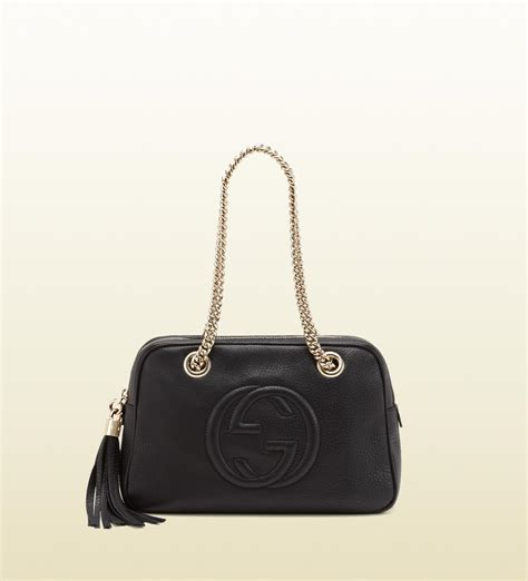 gucci soho bag gucci soho black leather shoulder bag with chain