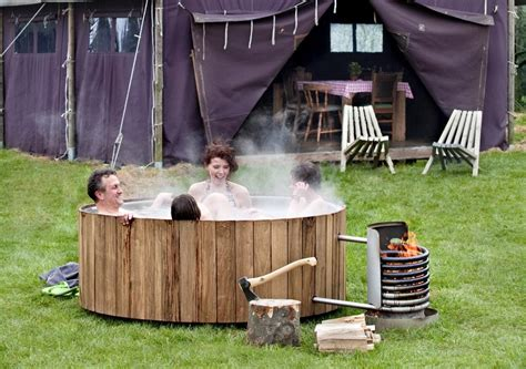 Outdoor Bathtub Wood Fired by Wood Fired Tub Iconic Dutchtub Heats Organically Captivatist