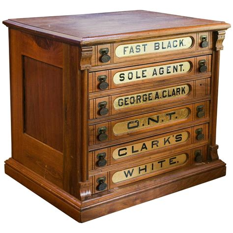 S Drawers by Antique Clark S Six Drawer Spool Cabinet At 1stdibs