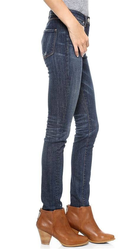 high rise pant high rise pant with regular cut pant over it 3x1 w3 high rise regular skinny jeans dark vintage in