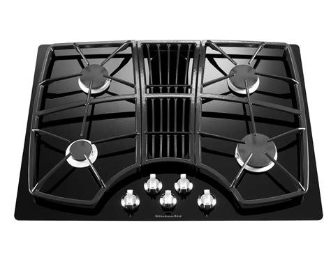 cooktop downdraft kitchenaid kgcd807xbl 30 quot 4 burner downdraft cooktop
