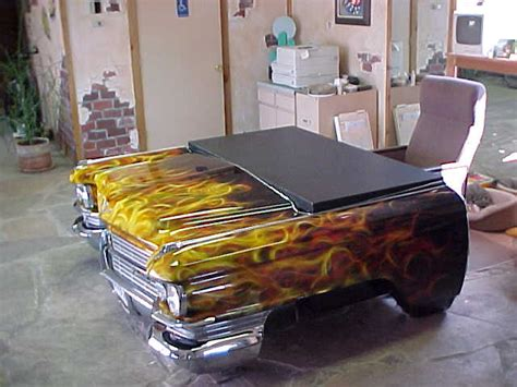 car desk flaming desk awesome carhacks domesticar