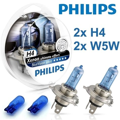 Lu Philips Blue Vision H4 2 oule philips h4 ultimate xenon effect bluevision