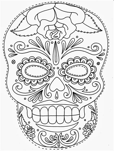 blank sugar skull template tattoos book 2510 free printable stencils skulls