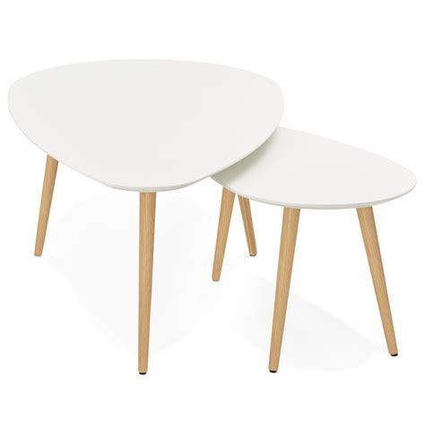 tables basses scandinaves table basse gigogne blanche scandinave rebro