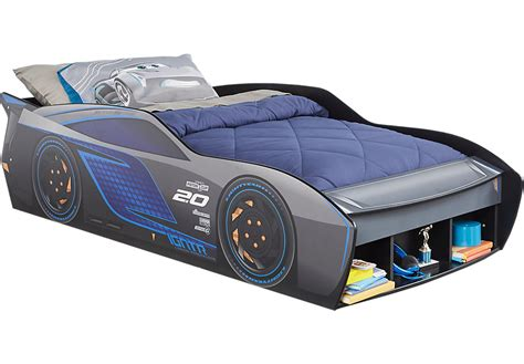 car bed twin disney cars jackson storm blue 3 pc twin car bed twin