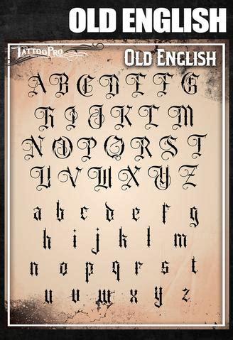 fonts tattoo pro stencils