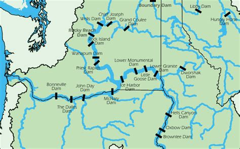 map of oregon dams a guide to major hydropower dams of the columbia river basin