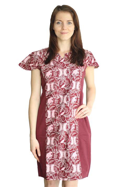 Baju Wanita 2 jual beli model baju batik dress kombinasi wanita cap asli