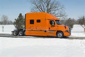 integrated tractor trailer sleeper cab bolt custom trucks