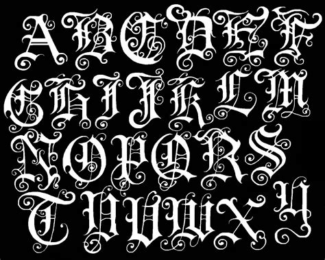 old english tattoo font the gallery for gt fancy fonts