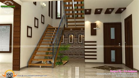 Staircase Bedroom Dining Interiors Kerala Home Design House Interior Design Pictures Kerala Stairs