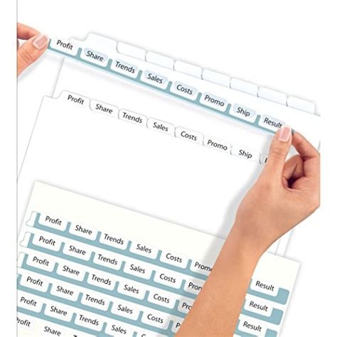 Avery Index Maker Clear Label Dividers 8 5 X 11 Inch 8 Tab White Tab 50 Sets 11557 Office Avery 8 5 X 11 Label Template