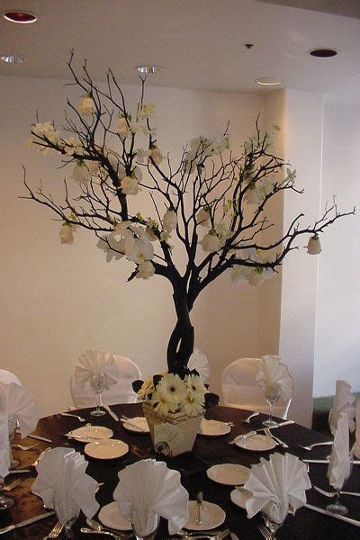 White Tree Centerpieces For Weddings 25th Anniversary White Tree Centerpieces