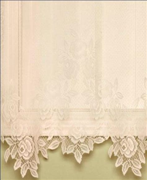 rose lace curtains tea rose lace panel and valance heritage lace