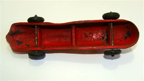 Auburn Rubber Red Race Car Made in USA Vintage Collectible Toy