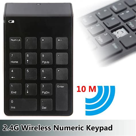 Murah Keyboard Mini Numeric keypad numeric wireless 2 4ghz 10 meter black
