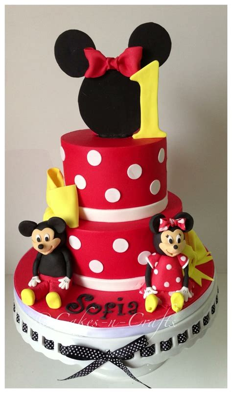 minnie mouse tiered cake  edible mickey  minnie cakecentralcom