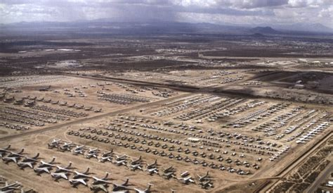 Davis Monthan AFB, Tucson, AZ, largest aircraft boneyard in the world, at the 309th AMARG