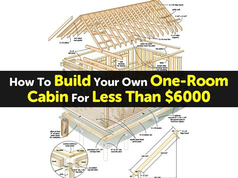 build your own room how to build your own one room cabin for less than 6000