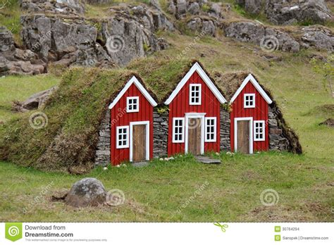Tiny Homes Plans Turf House For Elf In Iceland Stock Photo Image 30764294