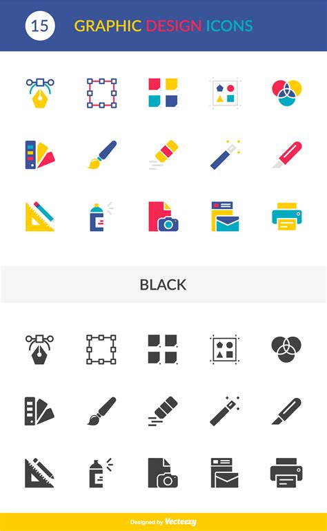 design icon pack free graphic design vector icon pack website design in