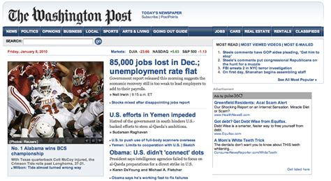 washington post health section washingtonpost com redesigns site innovation in college
