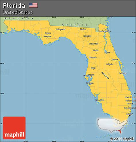 Florida Simple Search Free Free Savanna Style Simple Map Of Florida