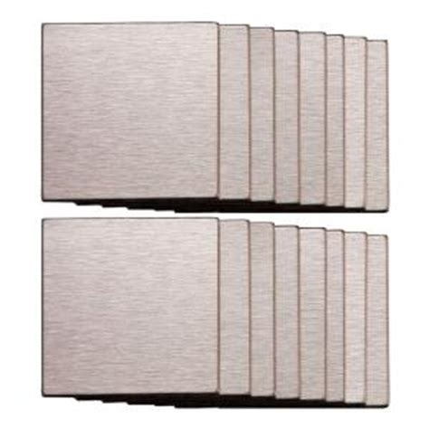 Stainless Steel Tile Backsplash Home Depot by Aspect 3 In X 3 In Metal Backsplash Tile In Course