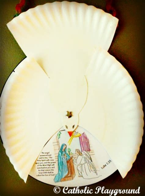 Paper Dove Craft - paper plate dove template search results calendar 2015