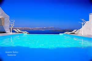 Infiniti Pool Infinity Pools Astarte Suites Hotel Santorini Greece