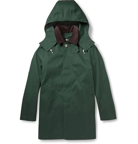 Handmade Coats - mackintosh dunoon handmade bonded cotton hooded coat