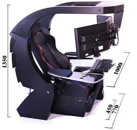 J20 Gaming Computer Workstation Dimensions In Millimeters Gaming Station Desk